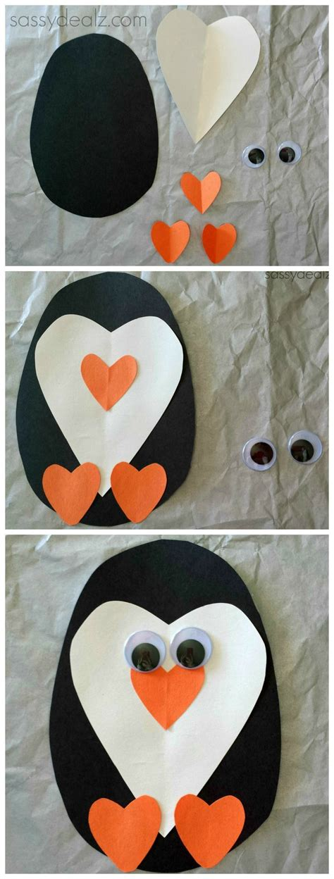 Penguin Paper Craft - paper penguin craft for winter for and
