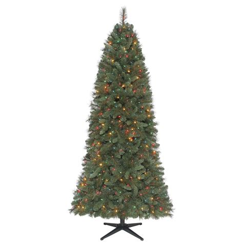 jaclyn smith 7ft stratford slim pine christmas tree with