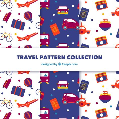 ai pattern pack pack of travel patterns vector free download
