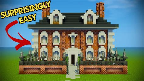 minecraft house design tutorial minecraft georgian house tutorial youtube