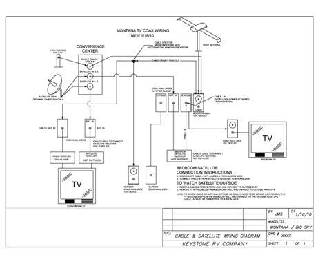 tv and cable tv wiring diagram montana owners club