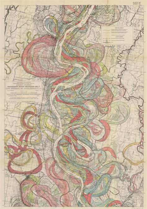 louisiana map change river how the mississippi has changed course
