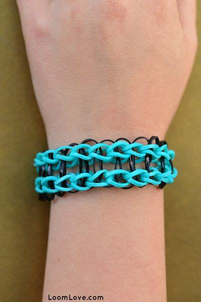 how to make a simple bracelet with loom bands bangle