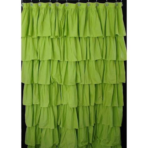 Green Bedding And Curtains Lime Green Ruffled Shower Curtain Make Yourself Comfortable Pinterest Ruffle Shower