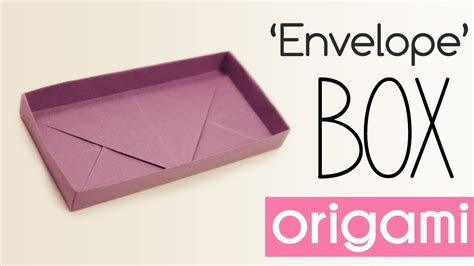 Origami Rectangular Box With Lid - origami shallow rectangular box tutorial diy