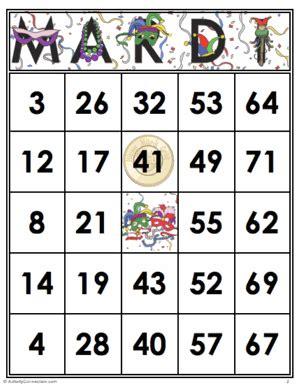 printable games for mardi gras 35 mardi gras bingo cards