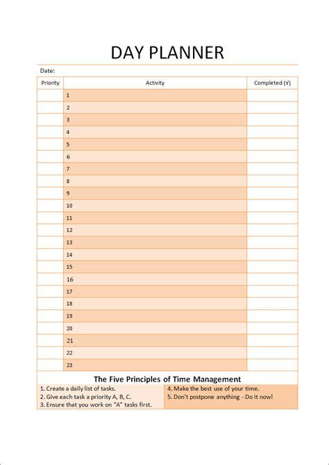 daily planner template pages 9 best images of printable day planner pages free