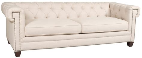 couch earl hooker furniture ss195 transitional chesterfield sofa with
