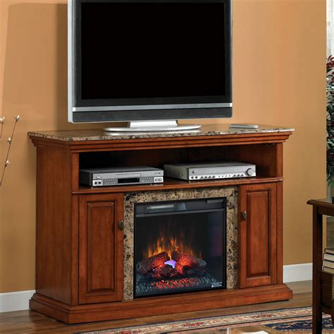 brighton 23 quot golden honey media console electric fireplace
