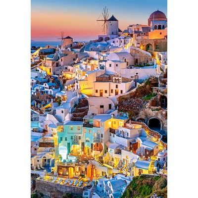 Jigsaw Puzzle Sunset On Llight 1000 puzzle santorini lights castorland 103522 1000 pieces jigsaw puzzles towns and villages