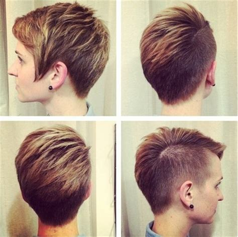 trendy short cut  women  shaved pixie cut