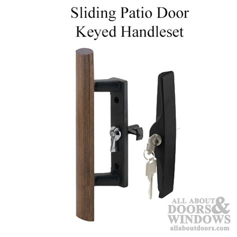 Keyed Patio Door Handle Keyed Handle Set Sliding Patio Door Lock Black