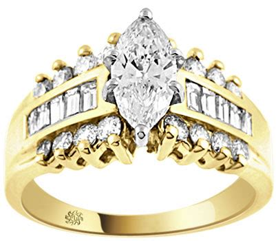 2 44 carat norwich 14kt yellow gold engagement ring