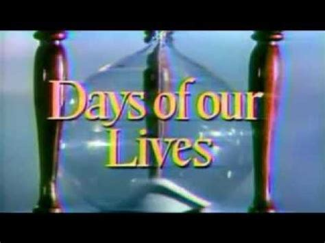 youtube days of our lives days of our lives intro w nbc peacock youtube