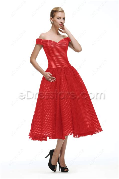vintage prom dresses tea length homecoming dresses