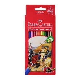 Cat Akrilik Non Toxic faber castell watercolour pencils 12 lix supplies