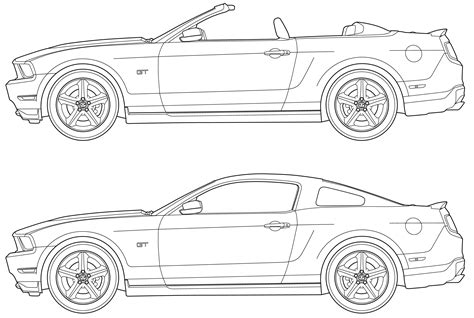 blueprints mustang gt images