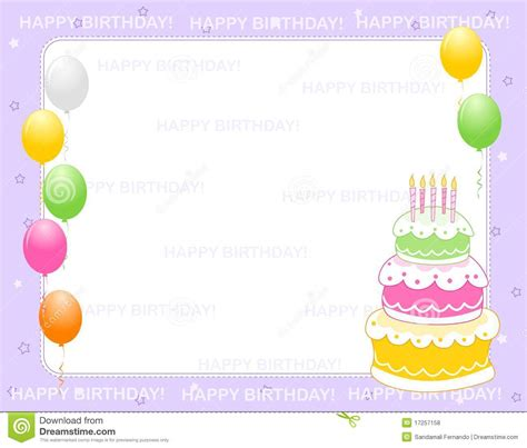 birthday invitation card royalty free stock photos image