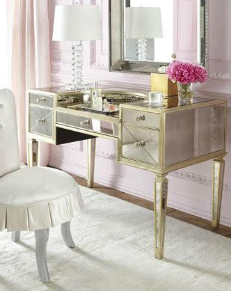 mirrored bedroom vanity quot amelie quot mirrored vanity