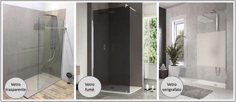 docce a parete gallery of doccia aperta quale forma with docce a muro