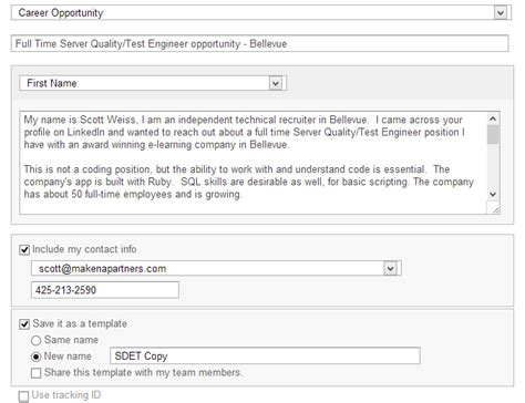 email template to recruiter review of linkedin recruiter corporate edition referagig