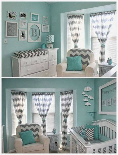 teal grey nursery design for my