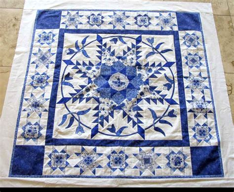 quilt pattern blue and white postcard carla barrett
