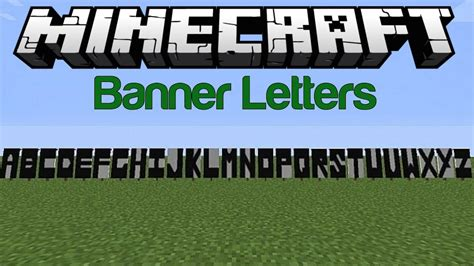 Banner Letters Minecraft minecraft banner letters