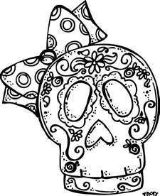 dia de los muertos skull coloring pages sugar skulls black and white coloring pages viewing gallery