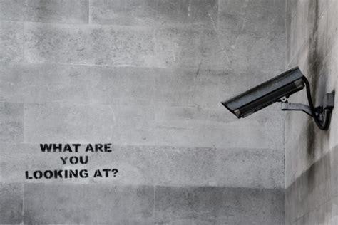 famous banksy cctv graffiti custom wallpaper
