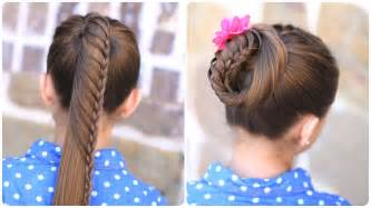 Lace braided ponytail and updo cute hairstyles