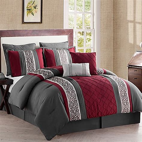 8 piece comforter set queen buy vcny farion 8 piece queen comforter set in charcoal