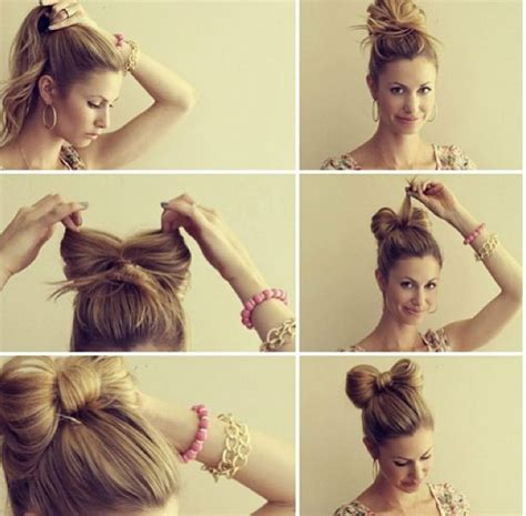 hairstyles cute bow easy bun hairstyle tutorials for the summers top 10