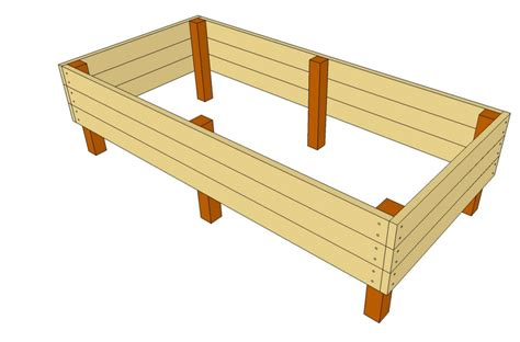 How To Build A Planter Box With Legs by Elevated Garden Beds On Legs Interior Design Ideas