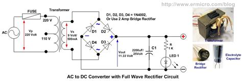 convert ac to dc with diodes zouhair electronics powering a pic microcontroller