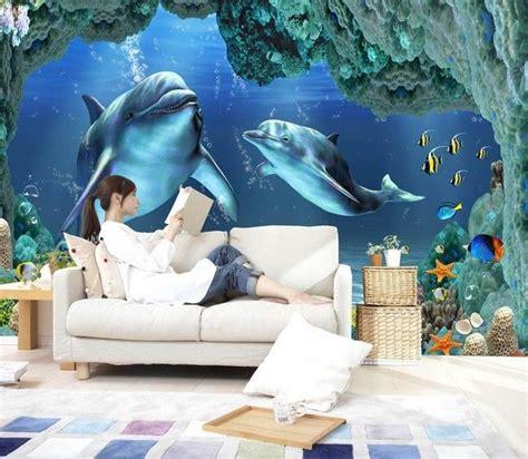 aquarium wall mural 3d undersea aquarium 0 wall murals wallpaper decal decor home nursery mural aud 34 50