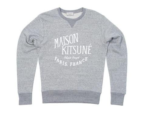 Kitsune Sweat Shirt Palais Roayl Black White maison kitsun 233 palais royale sweater freshness mag