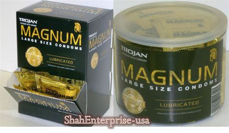 bid buy trojan magnum large 48 jar 50 box enz blue pleasure