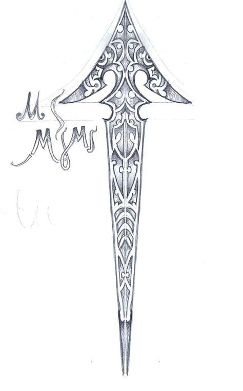 arrow tribal tattoo the gallery for gt tribal arrow drawing