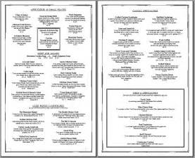 basic menu template free menu template being the chef