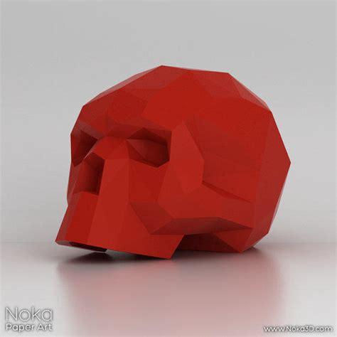 3d Papercraft Models Free - human skull 3d papercraft model from nokapaperart on etsy