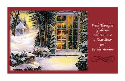 dear sister  brother  law christmas printable card blue mountain ecards