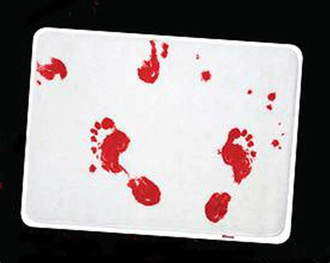 Bloody Shower Curtain And Bath Mat horror themed home decor to scare up your space