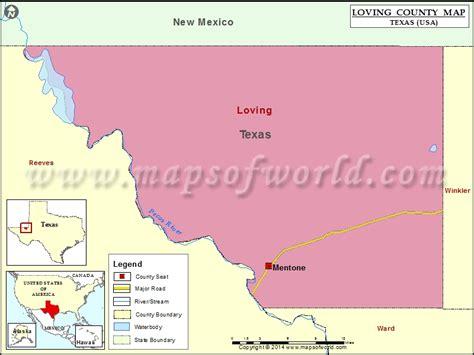 loving texas map loving county map texas