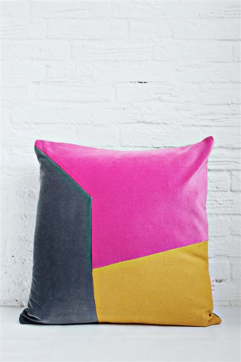 Cushion Handmade - handmade cushion cover grey pink mustard shop