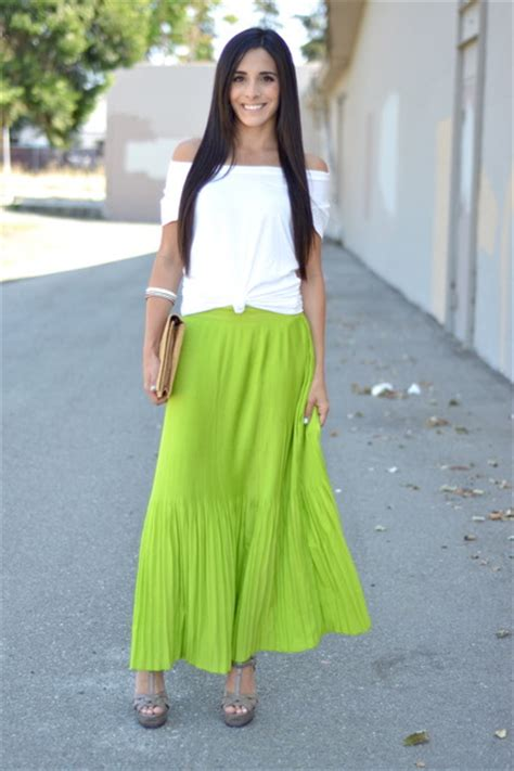 chartreuse pleated maxi navy skirts white target ts