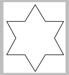 six pointed template 20 templates designs crafts free