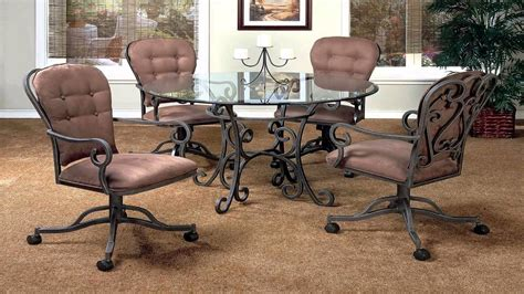 dining room chair casters caster dining room chairs delightful chair with casters