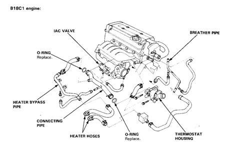 engine compartment hose diagram b18c1 honda tech