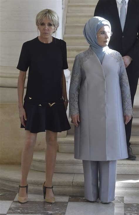 Radeva Dress melania smolders in cocktail dress next to clad emine erdogan